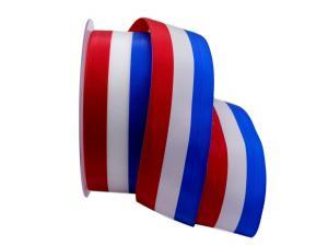 Nationalband Frankreich rot / weiß / blau 40mm ohne Draht