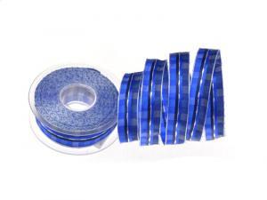 Karoband Summertime Blau 25 mm mit Draht