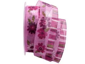 Blumenband Mazzo di fiore pinke 40mm mit Draht - Schleifenband günstig online kaufen!