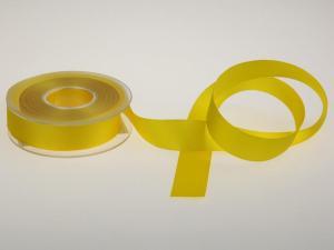 Uniband Ripsband Gelb ohne Draht 25mm