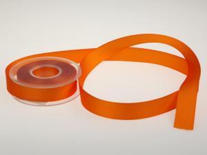Uniband Ripsband Orange ohne Draht 25mm