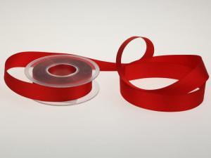 Uniband Ripsband Rot ohne Draht 25mm