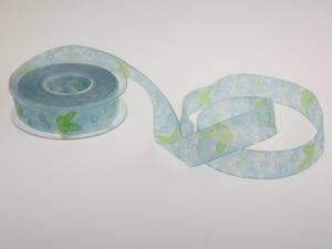 Motivband Schmetterling 25mm hellblau mit Draht - Dekoband günstig online kaufen!
