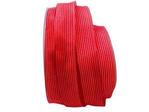 Streifenband Linee rot 25mm mit Draht