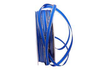 Geschenkband Stretto blau / gold 6mm ohne Draht