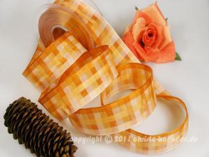 Karoband Memphis Lachs Orange mit Draht 40mm