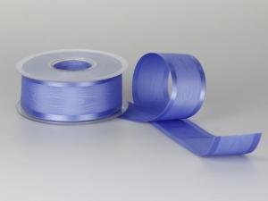 Tischband Moreé blau 40mm ohne Draht