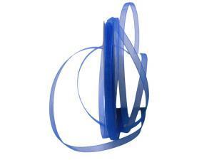 Organzaband Luminoso blau 6mm ohne Draht