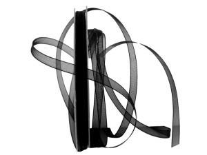Organzaband Luminoso schwarz 6mm ohne Draht