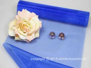 Tischband Organzaband 280mm Blau ohne Draht