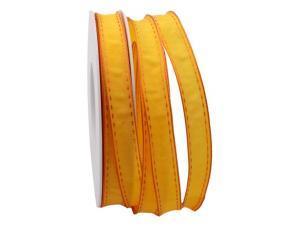 Dekoband Kontrasto orange  15mm mit Draht