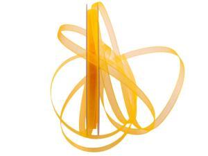Organzaband Luminoso gelb 6mm ohne Draht