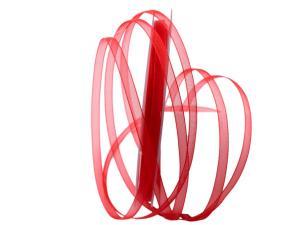 Organzaband Luminoso rot 6mm ohne Draht - Dekoband günstig online kaufen!