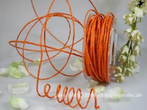Papierkordel Orange mit Draht 2mm