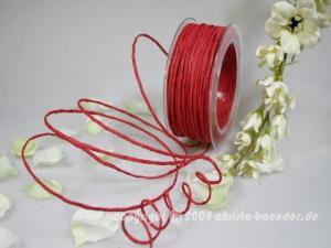 Papierkordel Rot mit Draht 2mm
