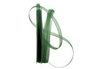 Organzaband Luminoso dunkelgrün 6mm ohne Draht