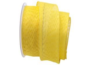 Dekoband Ombra gelb 40mm mit Draht
