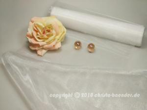Tischband Organzaband 280mm Weiß ohne Draht