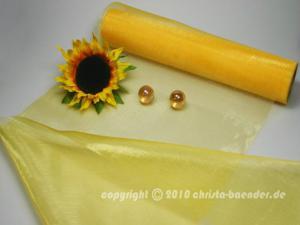 Tischband Organzaband 280mm Gelb ohne Draht
