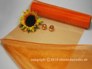 Tischband Organzaband 280mm Orange ohne Draht