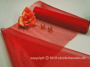 Tischband Organzaband 280mm Rot ohne Draht