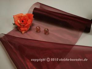 Tischband Organzaband 280mm Bordeaux ohne Draht