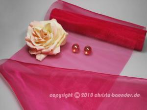 Tischband Organzaband 280mm Pink ohne Draht