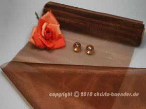 Tischband Organzaband 280mm Braun ohne Draht