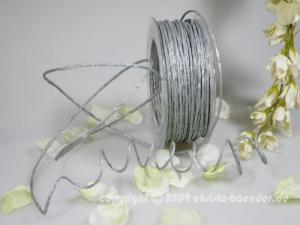Papierkordel Silber mit Draht 2mm