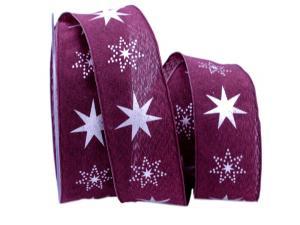 Weihnachtsband Gothland lila 40mm mit Nylonkante