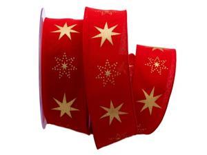 Weihnachtsband Gothland rot 40mm mit Nylonkante