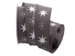 Weihnachtsband Gothland braun 40mm mit Nylonkante