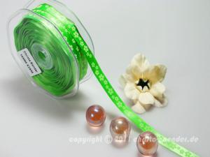 Motivband Blumenwiese Hellgrün ohne Draht 10mm - im Bänder Großhandel günstig kaufen!