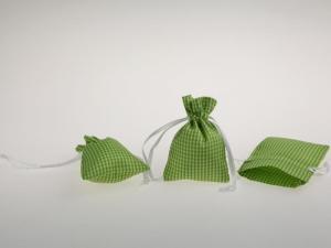 Dekosäckchen 7,5x10cm 10 Stück hellgrün