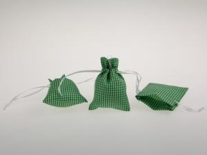 Dekosäckchen 7,5x10cm 10 Stück grün