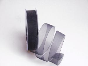 Organzaband schwarz ohne Daht 25mm