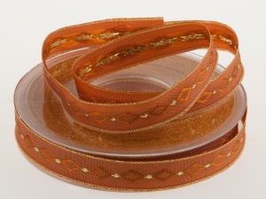 Weichnachtsband Excellent Braun 15mm mit Draht - Geschenkband günstig online kaufen!