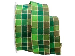 Weihnachtsband Zauberwürdel grün 40mm mit Draht