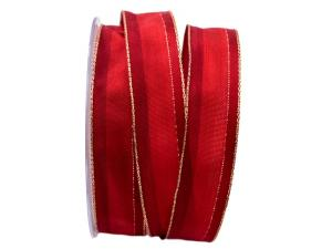 Dekoband Parma rot 25mm mit Draht - Geschenkband günstig online kaufen!