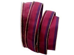 Dekoband Parma pink 25mm mit Draht - Geschenkband günstig online kaufen!