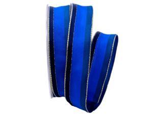 Dekoband Parma blau 25mm mit Angelschnur - Dekoband günstig online kaufen!