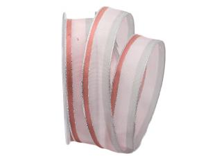 Dekoband Parma rosa 25mm mit Angelschnur