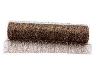 Tischband Spidertüll 250mm braun / gold ohne Draht