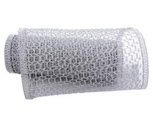 Gitterband Hexe silber 240mm mit Draht