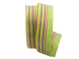 Strifenband Linee Verdi grün 40mm mit Draht