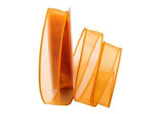Organzaband Sottili orange 25mm ohne Draht