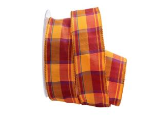 Karoband Colore orange  40mm mit Draht