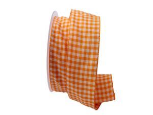 Karoband Landhauskaro orange 40mm ohne Draht