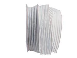 Streifenband Strisce weiß 25mm mit Draht - Geschenkband günstig online kaufen!