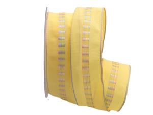 Dekoband Rosalie gelb 40mm mit Draht